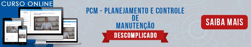 PCM PLANEJAMENTO E CONTROLE DE MANUTENÇÃO BANEER
